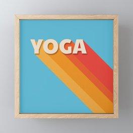 Yoga retro typography Framed Mini Art Print