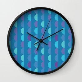 Half circles blue Wall Clock
