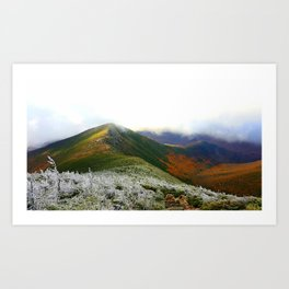 Walking Through The Mountains Art Print