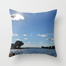 Fun at the Lake Throw Pillow