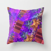 vertigo Throw Pillows featuring Vertigo by Lyle Hatch
