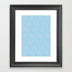 pattern blue Framed Art Print