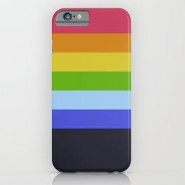 7 Abstract Rainbow Colors Retro Summer Stripes Design Tia iPhone Case