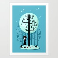 snow white Art Prints featuring Snow White by Freeminds