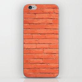 Red brick iPhone Skin
