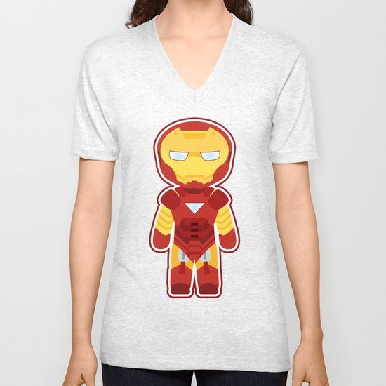 Chibi Iron Man Unisex V-Neck