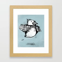 Floating Bird Framed Art Print