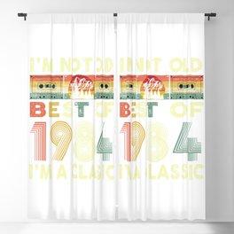 Best Of 1984 36th Birthdays Cassette Tape Vintage  Blackout Curtain