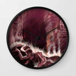 The Burning of Rome Wall Clock