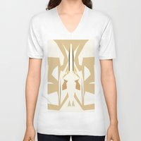 trumpet V-neck T-shirts featuring Trumpet by Warfield