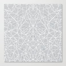 Abstract Lace on Grey Canvas Print