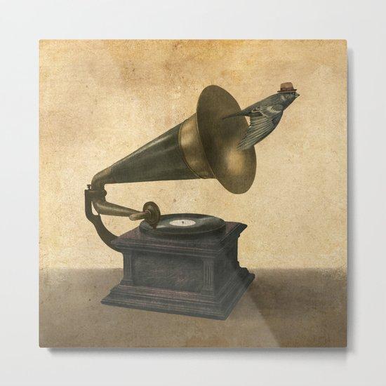 Vintage Songbird Metal Print