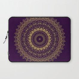 Harmony Circle of Gold on Purple Laptop Sleeve