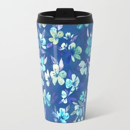 Grown Up Betty - blue watercolor floral Travel Mug