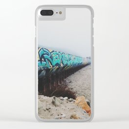 Beach Graffiti Clear iPhone Case