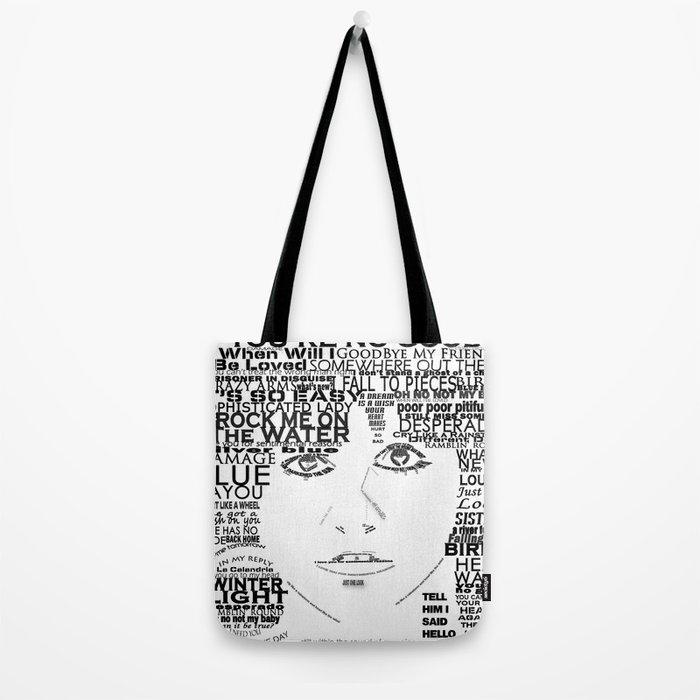 "Linda Ronstadt ""Song Titles"" Word Art Tote Bag"