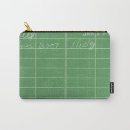 Library Card 797 Negative Green Carry-All Pouch