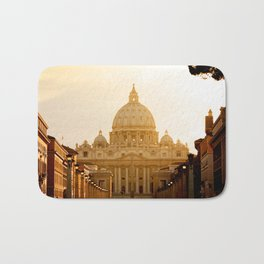 St. Peter's Basilica at sunset. Bath Mat