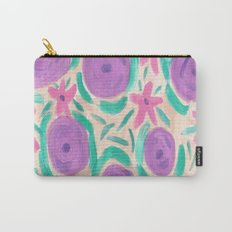 Beachy Floral Boho Print Carry-All Pouch