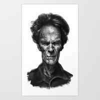 clint eastwood Art Prints featuring Clint Eastwood by Thomas Bryant