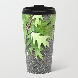 Oak Leaves on Metal Travel Mug