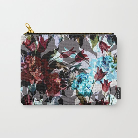 Seamless Absract Flower Pattern Carry-All Pouch