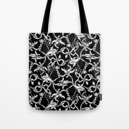 Pattern: Dark Floral Tote Bag