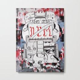 Schizophrenic society Metal Print