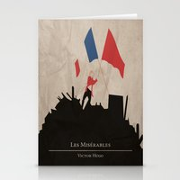 les mis Stationery Cards featuring Les Misérables by Abbie Imagine