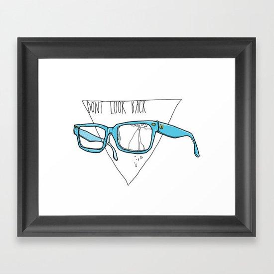 Don't Look Back Framed Art Print