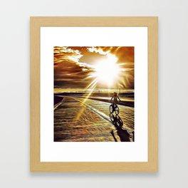 Chasing the Sun Airbrush Artwork Framed Art Print