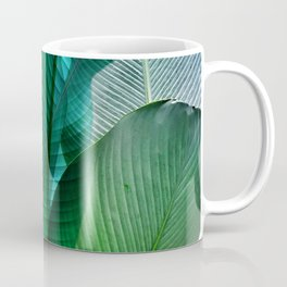 Palm leaf jungle Bali banana palm frond greens Coffee Mug