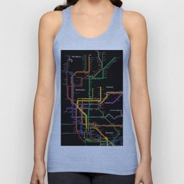 New York City subway map Unisex Tank Top
