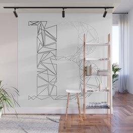 ''Geometry Collection'' - Minimal Letter B Print Wall Mural