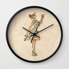 Pin Up Cocktail  Wall Clock