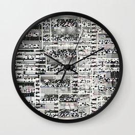 My Friend, Surveillance (P/D3 Glitch Collage Studies) Wall Clock