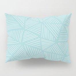 Powder Blue Triangles Pillow Sham