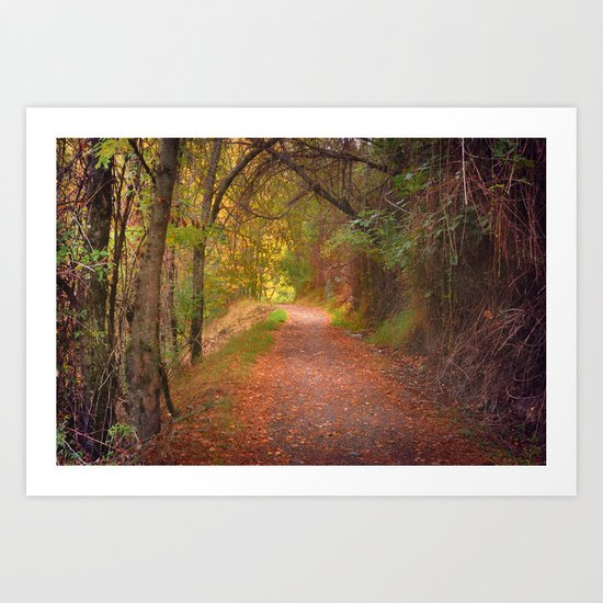 """Color tunnel"". Autumn dreams Art Print"