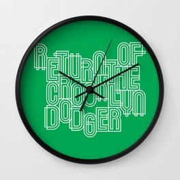 Return of the Crooklyn Dodger Wall Clock