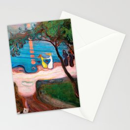 12,000pixel-500dpi - Edvard Munch - Dance on the Beach - Digital Remastered Edition Stationery Cards
