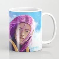 dragonball Mugs featuring Hope of the Future by Smojojo