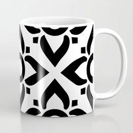 illustration decorative black and white seamless vector pattern floral motifs Coffee Mug