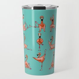 Flamingo Yoga Travel Mug