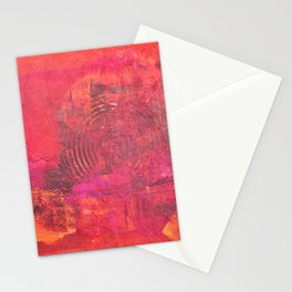 Original Textured Painting Orange and Red Stationery Cards