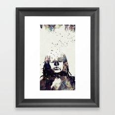 Tousled bird mad girl Framed Art Print