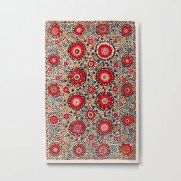 Karabag Suzani Uzbekistan Embroidery Print Metal Print