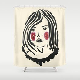 Paper Cut - Woman No. 3 Shower Curtain