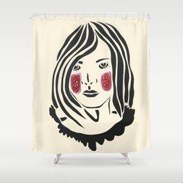 Paper Cut - Woman No. 3 Shower Curtain