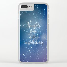 My Thoughts Are Stars Clear iPhone Case