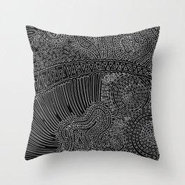 tiny lines Throw Pillow